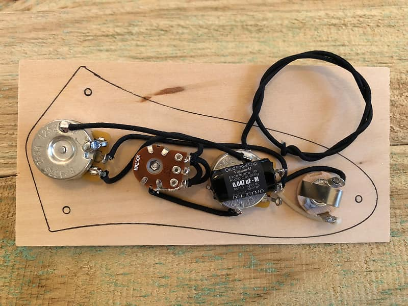 fender p j bass wiring harness with blend pot & oiled paper capacitor