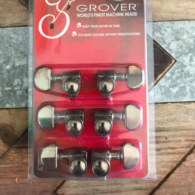 Real Life Relics Grover Aged Nickel Rotomatic 3+3 18:1 Gear Ratio Tuning Machines 102-18N