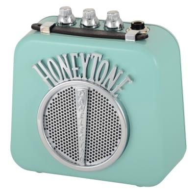 Danelectro N-10 Honeytone Nifty Aqua Mini Amp Gitarrenverstärker for sale