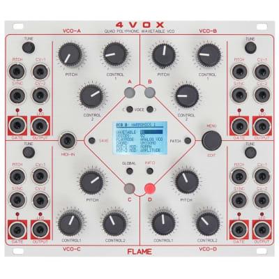 Flame 4Vox: 16-voice wavetable oscillator [eurorack]