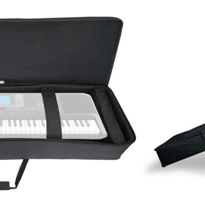 Rockville 61 Key Keyboard Case w/ Wheels+Trolley Handle For Korg PA3X 61