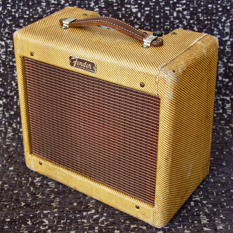 Fender Tweed Amp >> 1957 Fender Champ 5e1 Tweed Amp Vintage Guncotton