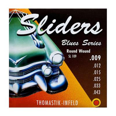 NEW Thomastik-Infeld Blues Sliders Electric Guitar Strings - SL109 (.009 - .043)