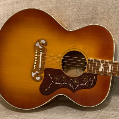 Vintage 1973 Maya MJ200 J200 Jumbo Copy Sunburst + Case New Martin Strings Gorgeous Lawsuit Era for sale