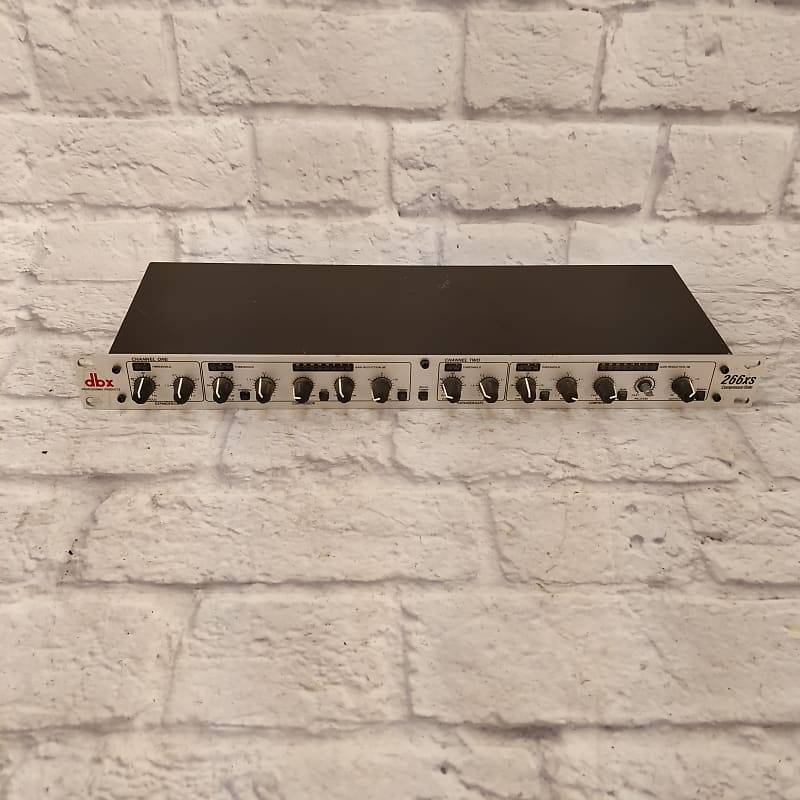 dbx 266xs stereo compressor limiter noise gate dynamics reverb. Black Bedroom Furniture Sets. Home Design Ideas