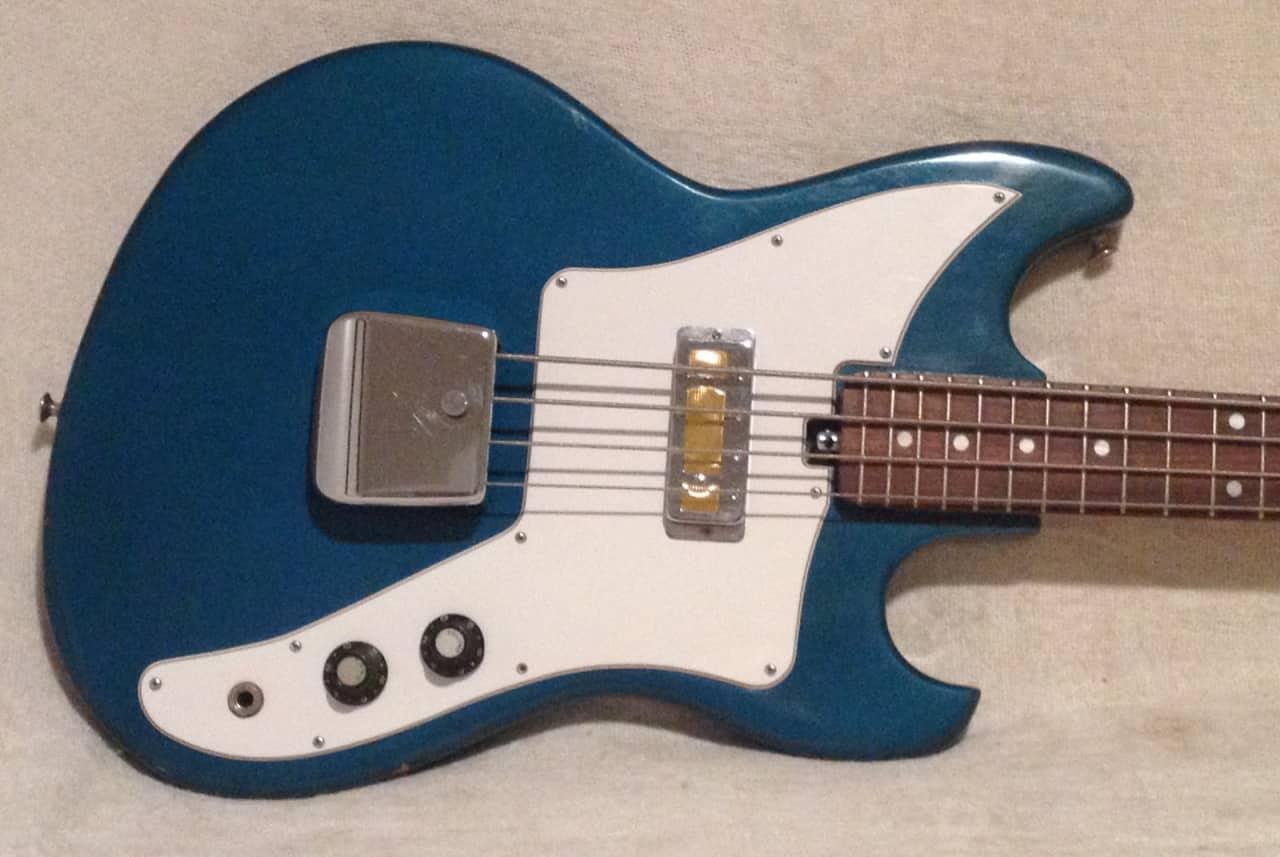 teisco eb 100 electric bass guitar vintage japan gold foil reverb. Black Bedroom Furniture Sets. Home Design Ideas