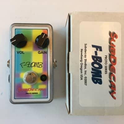 Subdecay Proto Series F-Bomb V1 Fuzz Distortion Rare Guitar Effect Pedal + Box