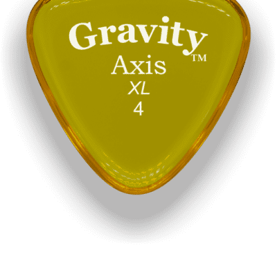 Gravity Picks Axis XL 4mm Yellow Acrylic <GAXX4P>