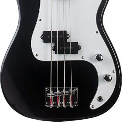 Oscar Schmidt OB25B 3/4 Size Short Scale Maple Neck Wood 4-String Electric Bass Guitar for sale
