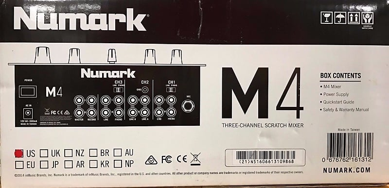 Numark - M4 - Black Three-Channel Scratch DJ Mixer   MAXX A1
