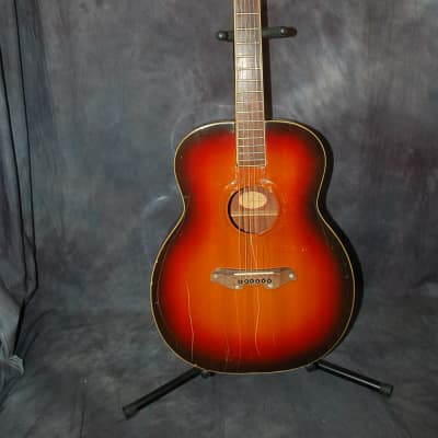 1965 Mosrite Acoustic Serenade Guitar Sunburst Pro Setup Original Hard Shell Case for sale