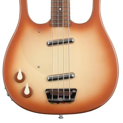 Danelectro Longhorn  Left-handed Bass Guitar - Copper Burst for sale