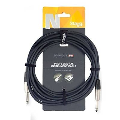 Stagg Deluxe 6m Jack - Jack Instrument Cable REAN by Neutrik AG Connectors for sale