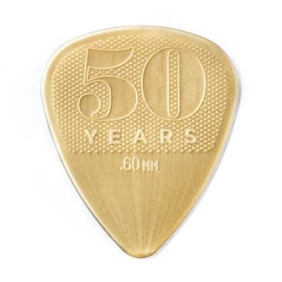Dunlop 442P60 Nylon 50th Anniversary .60mm Guitar Picks (12-Pack)