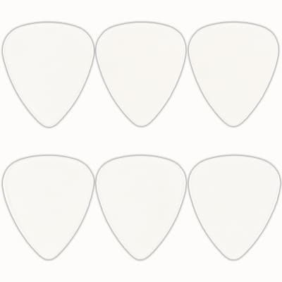 Celluloid Clear Guitar Or Bass Pick - 0.71 mm Medium Gauge - 351 Shape - 6 Pack New
