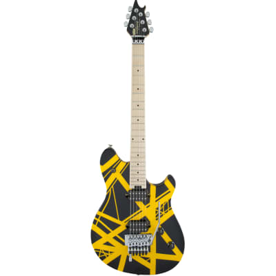 EVH Wolfgang Special Striped Black and Yellow Electric Guitar