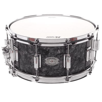 """Rogers #33 Dyna-Sonic 6.5x14"""" Wood Snare Drum with Bread and Butter Lugs Reissue"""