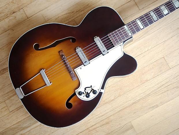 2562d1dcea 1950s Kay K192 Vintage Archtop Electric Guitar Kent WC-25   Reverb