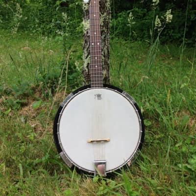 Iida 5-string Banjo Brown Wood for sale