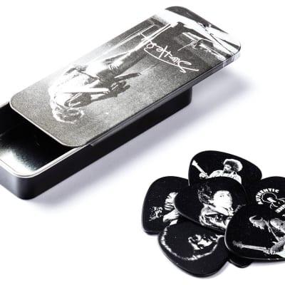 Dunlop JH-PT06M Jimi Hendrix Silver Portrait  Picks Tin -12 Medium Guitar Picks