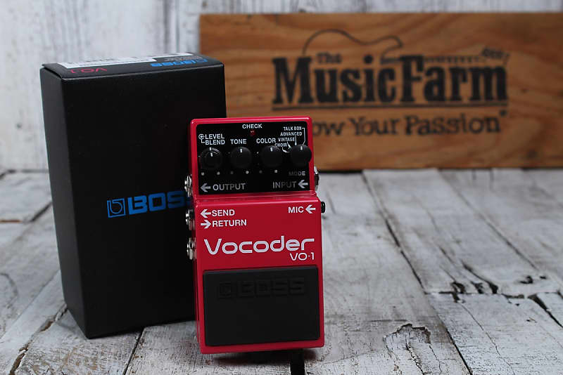 Boss VO-1 Vocoder Electric Guitar and Bass Guitar Effects | Reverb