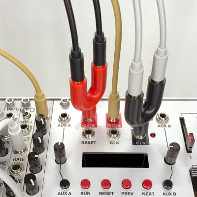 Stackable Mult Splitter [1 Red] work with 3.5mm mono patch cable for Eurorack module/Synth/Audio/CV