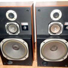 jbl 2800. mcs panasonic technics 683-8320 time aligned 3 way vintage speakers jbl 2800