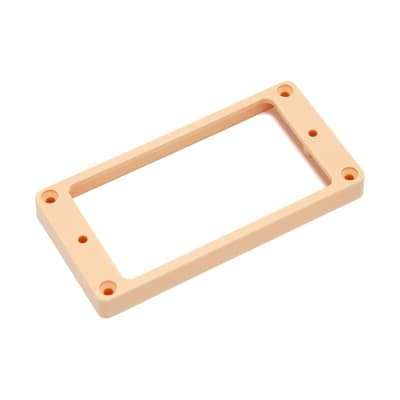Hosco Pickup Mounting Rings Non-Slanted Flat Top and Bottom (Ivory, Bridge) for sale