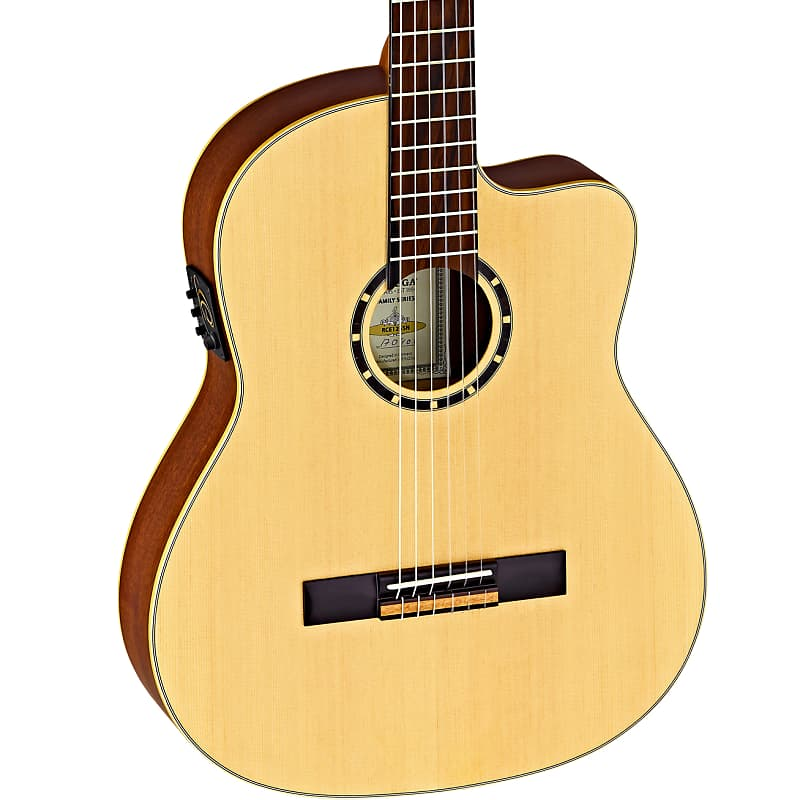 Ortega Feel Series Cedar Top Nylon String Acoustic Guitar RCE158SN