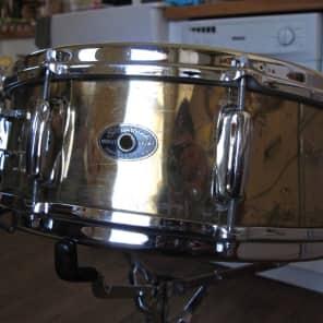 "Slingerland No. 142 Brass 5x14"" Snare Drum with 3-Point Strainer 1959 - 1960"