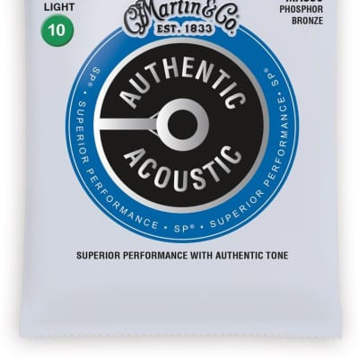 Martin MA530 Authentic Acoustic SP Extra Light Guitar Strings 10-47