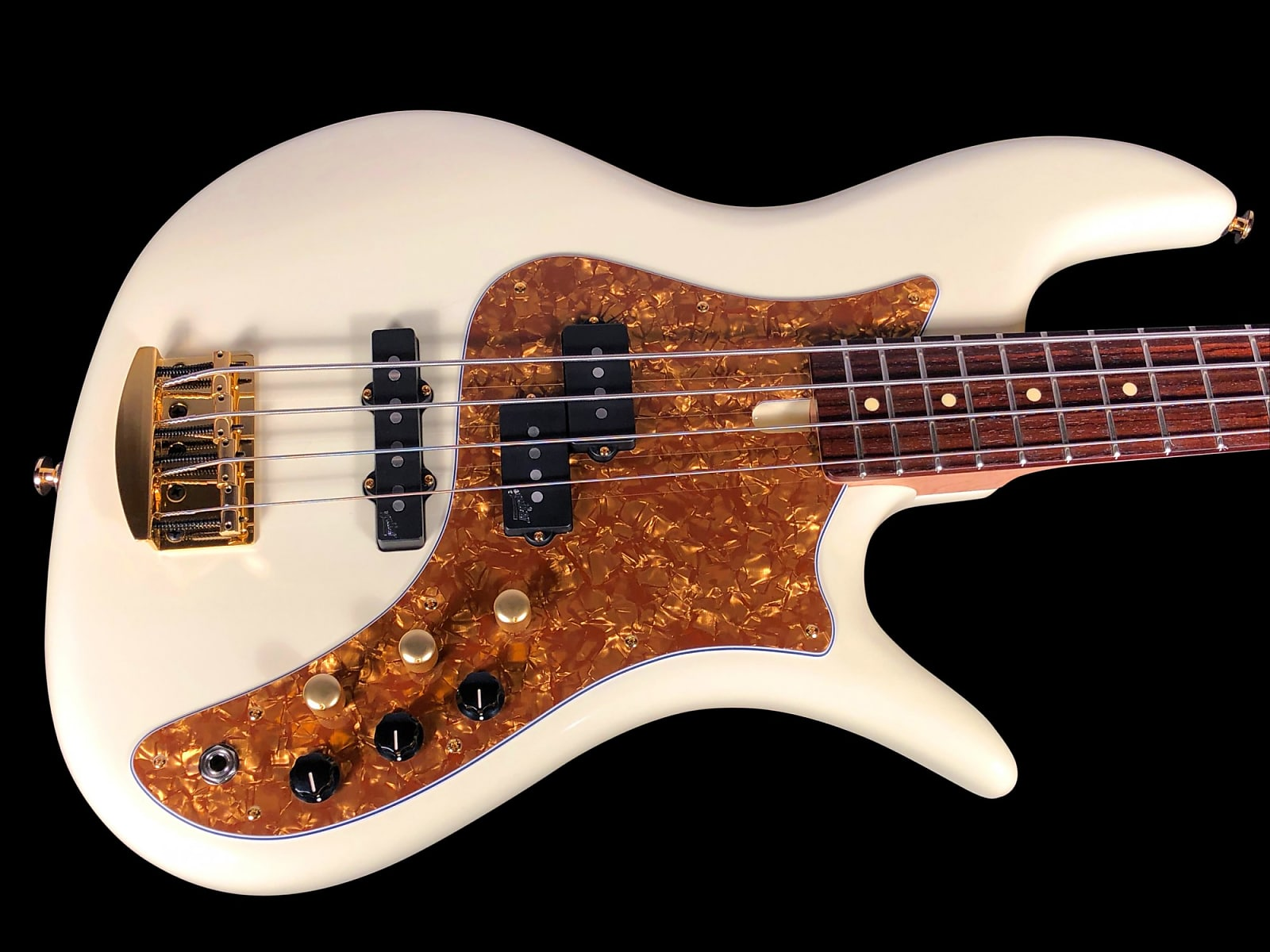 2018 F Bass VF4 PJ 4 String Bass with Rosewood Fretboard ~ Olympic White Gloss