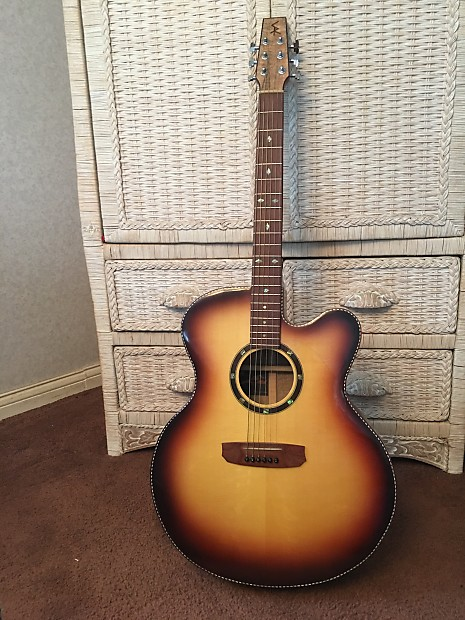 skr mango jumbo 2015 natural sunburst with fender guitar case reverb. Black Bedroom Furniture Sets. Home Design Ideas