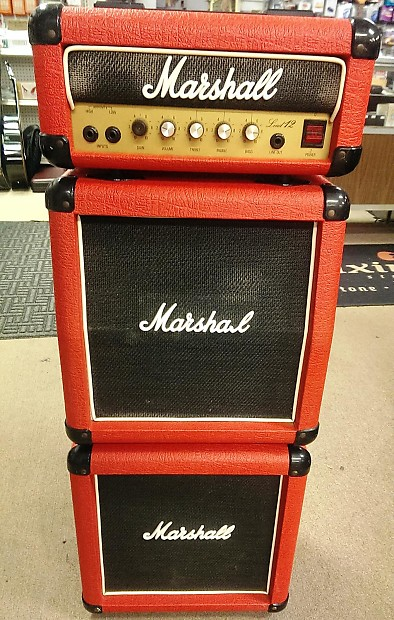 Late 80's Marshall Lead 12 #3005 Mini-Stack, Rare Red Tolex, Orig Celestion  G10D-25, UK