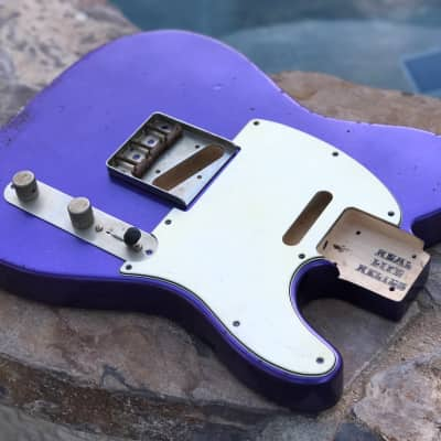 Real Life Relics Custom Tele Telecaster Body Purple Passion Metallic Aged