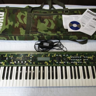 Korg X50 Synthesizer Limited Edition Camouflage color w/ original soft case, PSU