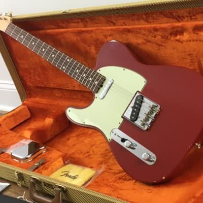 Lefty Fender Custom Shop '59 Time Machine Relic Dakota Red Nitro Left Hand Telecaster Double Esquire