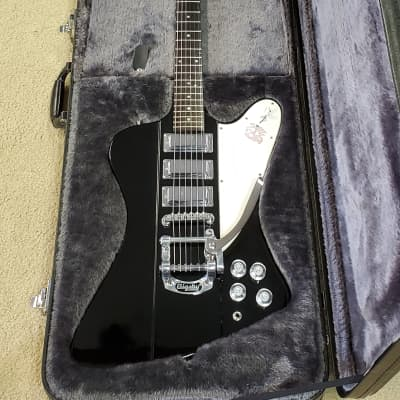 Epiphone Firebird Vii 1995 w/ Bigsby. 7 way switching, push/pull bridge pot, black w/ case for sale
