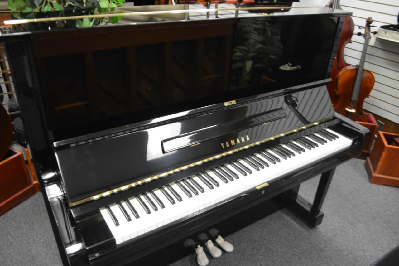 Yamaha u3 upright piano ebony black polish reverb for Used yamaha u3 upright piano