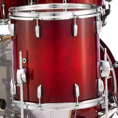 "Pearl Session Select 14""x14"" Floor Tom ANTIQUE CRIMSON BURST STS1414F/C315 Drum"