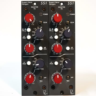 Rupert Neve Designs 551 500 Series Inductor EQ Pair