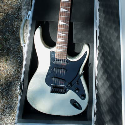 Starforce USA Series 8000 Stratocaster Style  1988 White Crackle for sale