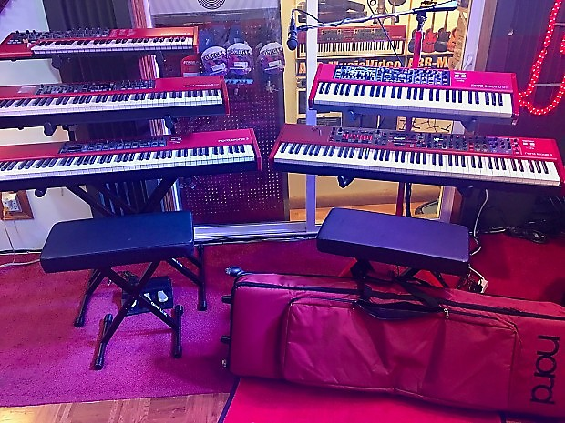 nord keyboard stand red sl930 authorized nord dealer w full reverb. Black Bedroom Furniture Sets. Home Design Ideas