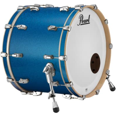 """Pearl Music City Custom 22""""x14"""" Reference Series Bass Drum w/o BB3 Mount RF2214BX - Vintage Blue Sparkle"""