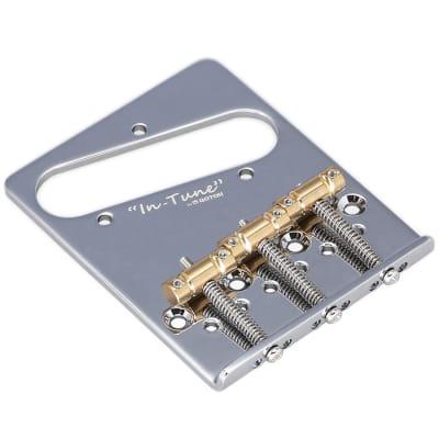 Gotoh BS-TC2 Brass In-Tune Saddle Dual Load Bridge for Fender Telecaster Tele - CHROME for sale