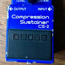 Boss CS-2 Compression Sustainer Blue Made in Japan, MIJ