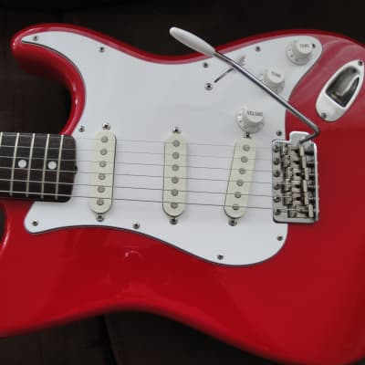 Made in Japan Fernandes 1996 Strat style  apple candy red excellent condition for sale