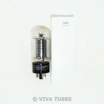 NOS GE USA 6L6GB Black Plate Top [] Get Vacuum Tube 100+% image