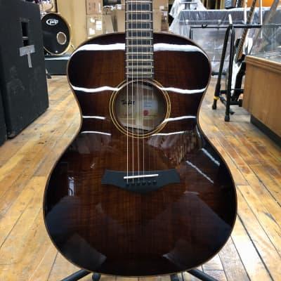 Taylor Custom Grand Auditorium Tasmanian Blackwood Shaded Edgeburst Acoustic-Electric w/Hard Case for sale