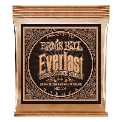 Ernie Ball 2544 Everlast Phosphor Bronze Acoustic Strings Medium .013-.056
